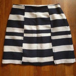 Navy Striped Shift Skirt from LOFT